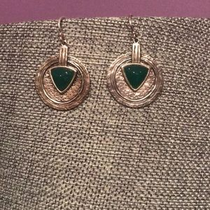 "NWOT Silpada ""Emerald Isle"" Earrings"